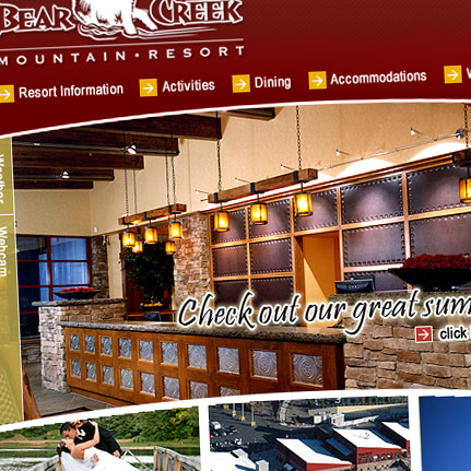 Bear Creek Mountain Resort: Web Interface Design and Development
