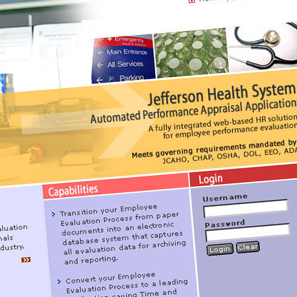 Jefferson Health System: Web Interface / Front-end